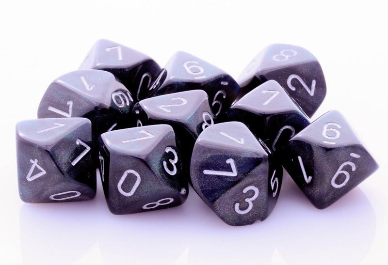 Borealis Dice Smoke Black D10