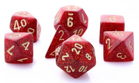 Glitter Dice Ruby Red