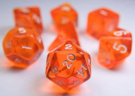 Translucent Dice Orange