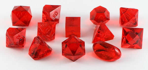 Gamescience Dice Ruby 12 Piece Set