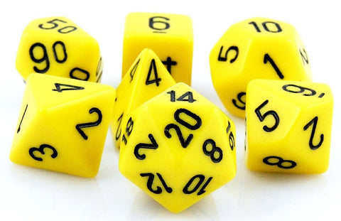 Opaque Dice Yellow