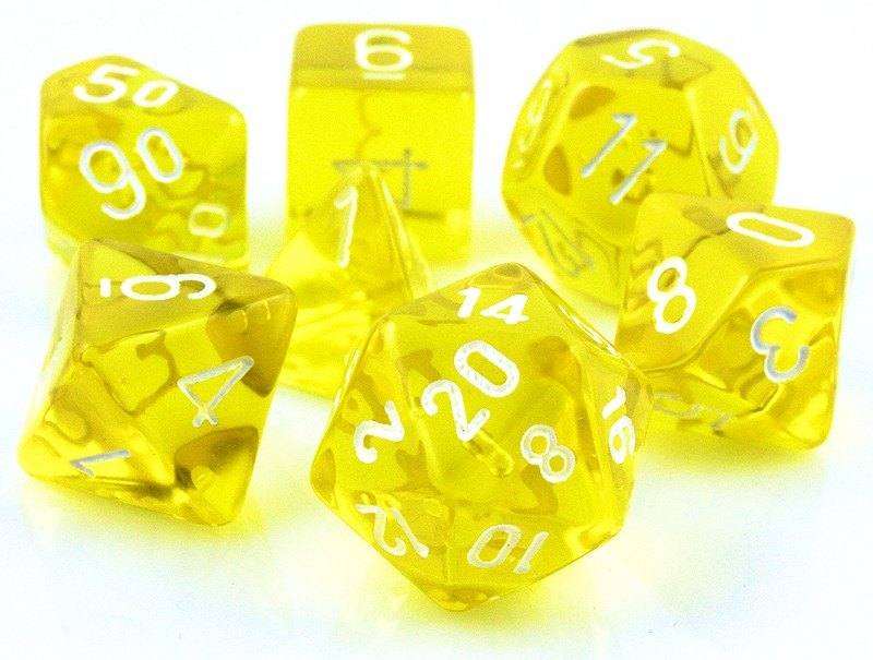 Translucent Dice Yellow