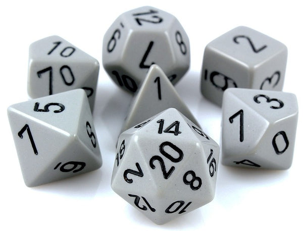 Opaque Dice Gray With Black Numbers Rpg Role Playing