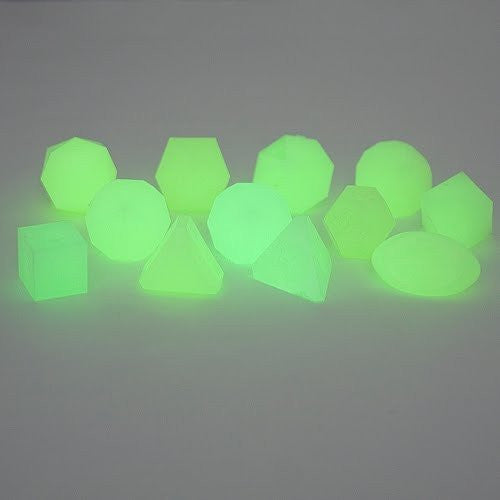 Gamescience Dice Glow Green 12 Piece Set