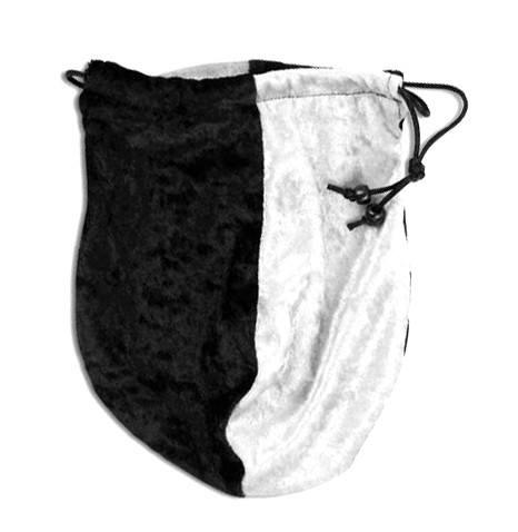 dice bag black white