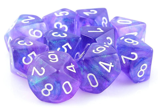 Borealis Dice Purple D10