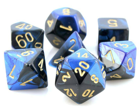 Gemini Dice Black Blue