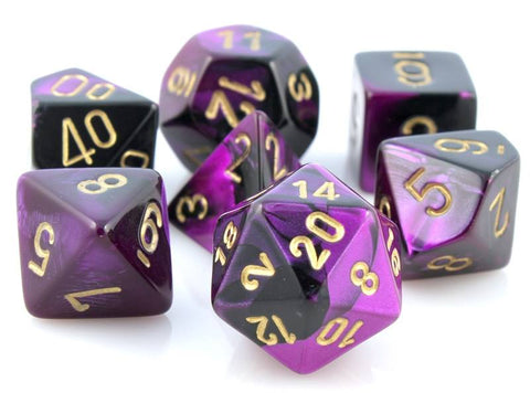 Gemini Dice Black Purple