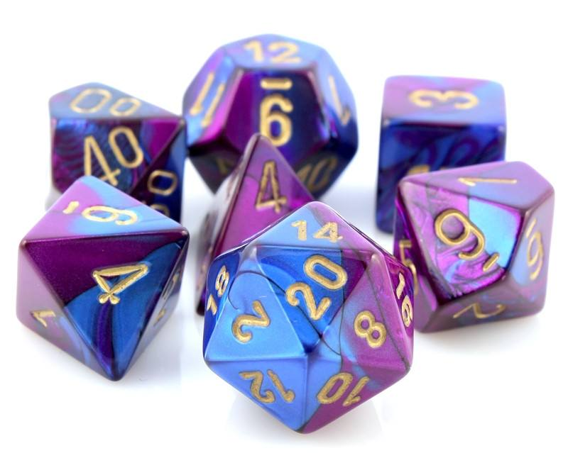 Gemini Dice Blue Purple
