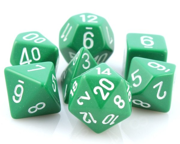 Opaque Dice Green