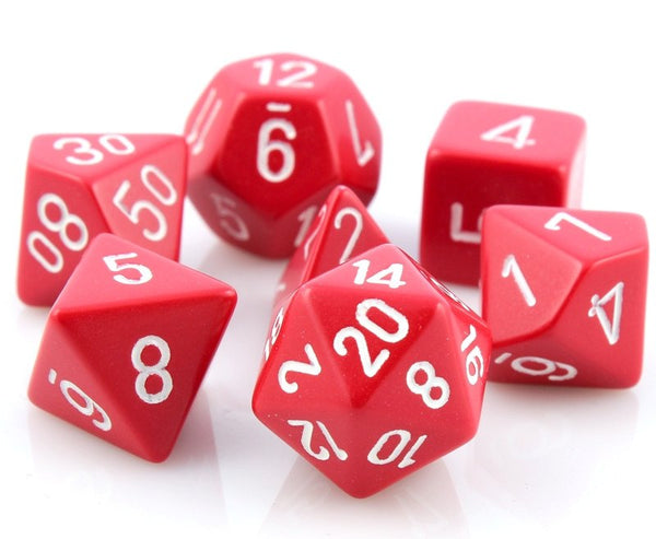 Opaque Dice Red White