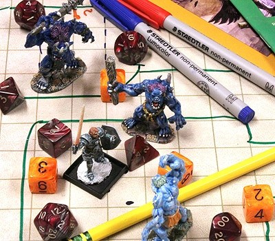 Combat Mat, Medium (RPG Game Mat with Two-Sided Grid)
