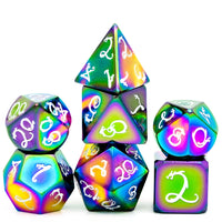 DnD Rainbow Metal Dice Dragons