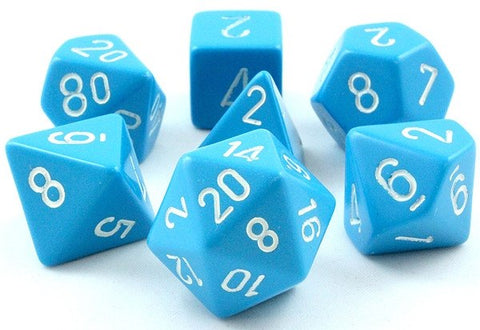 Opaque Dice Light Blue