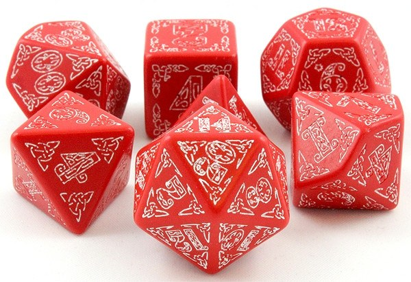 Celtic Dice Red/White
