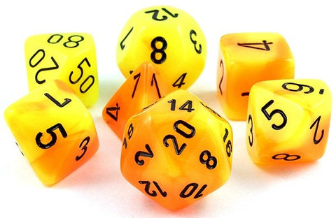 Gemini Dice Yellow Orange