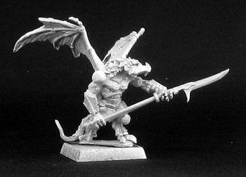 Reaper Miniatures Winged Lizardman Warrior 14441