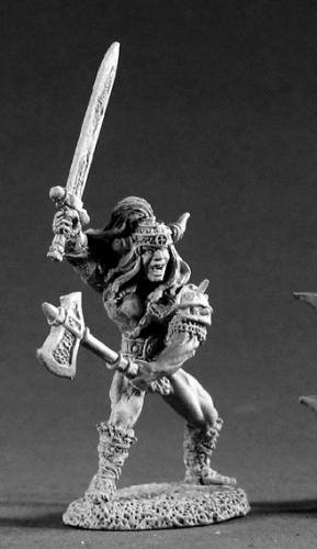 Reaper Miniatures King Angus Stormhand Barbarian 2247 RPG 25mm Mini