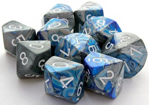 Gemini Dice D10 Blue Steel