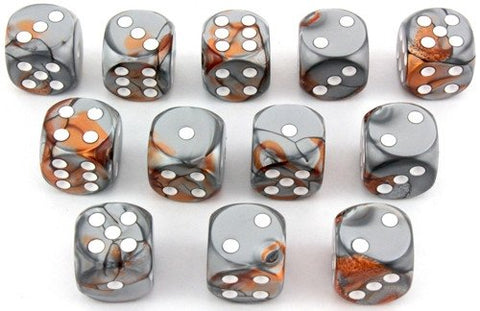 Gemini Dice d6 Copper Steel