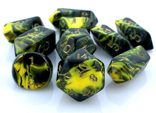 Oblivion Hybrid Dice Yellow