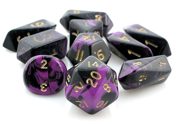 Oblivion Hybrid Dice Purple