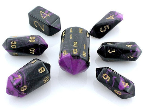 Oblivion Dice Crystal Purple