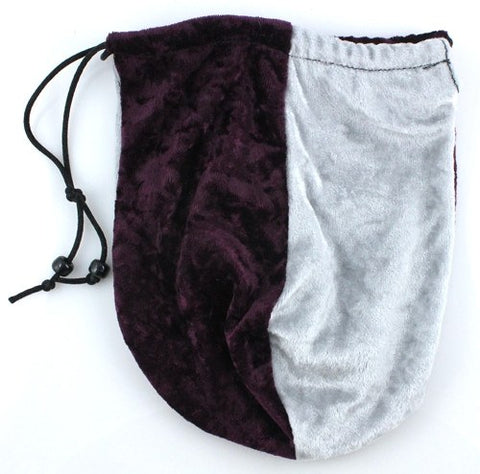 dice bag wine silver