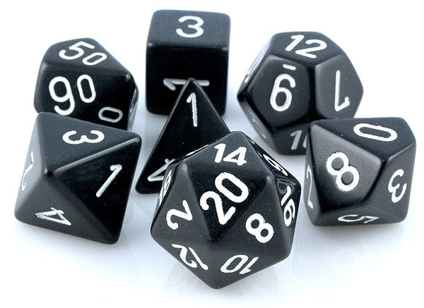 Opaque Dice Black White