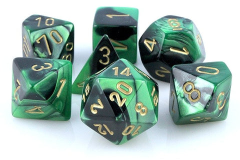 Gemini Dice Black Green