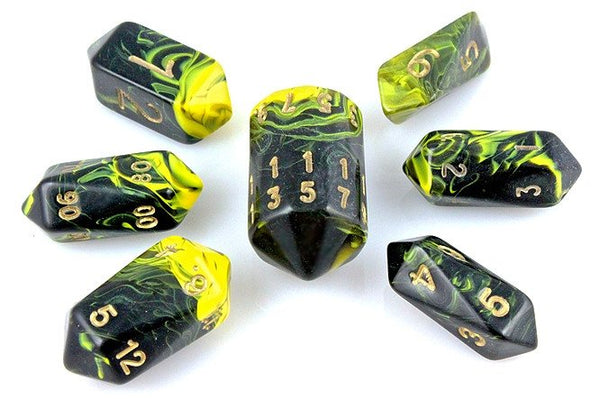 Oblivion Dice Crystal Yellow