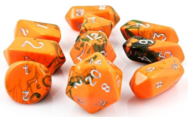 Toxic Hybrid  Dice Orange Green