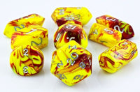 Toxic Hybrid  Dice Yellow Red