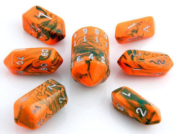 Toxic Crystal Dice Orange Green
