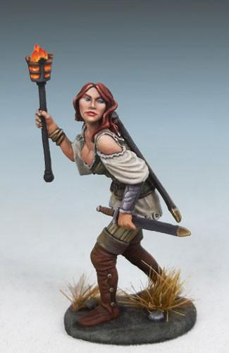 Dark Sword Miniatures (DSM4615 Raven Switchsword, Female Rogue