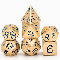 Gold Dragon DnD Dice