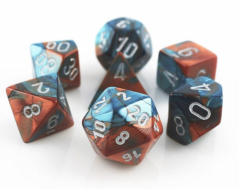 Gemini Dice Copper Teal