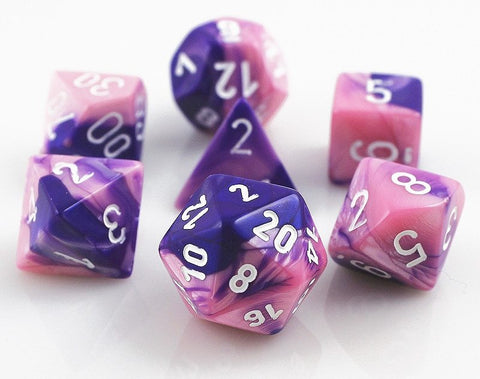 Gemini Dice Purple Pink