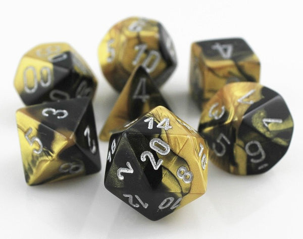 Gemini Dice Black Gold