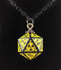Nuke d20 dice necklace