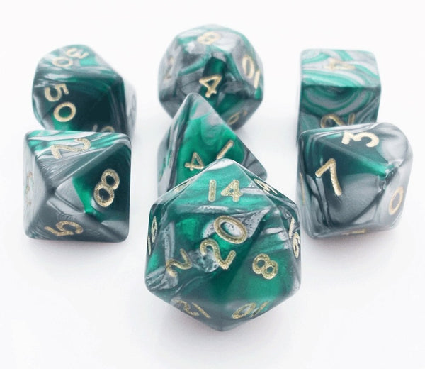 Dragon Bones Dice Green