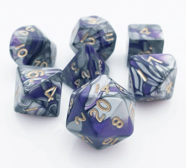 Dragon Bones Dice Purple