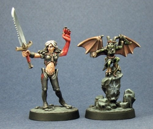Pathfinder Miniatures Nualia and Elyrium 60012