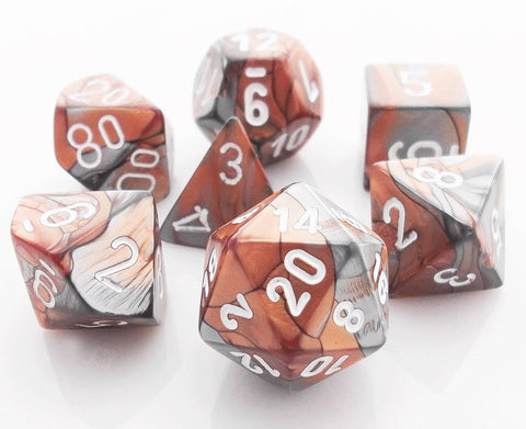 Gemini Dice Copper Steel