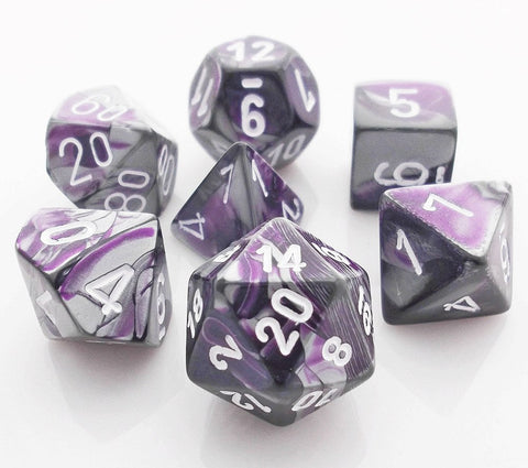 Gemini Dice Purple Steel