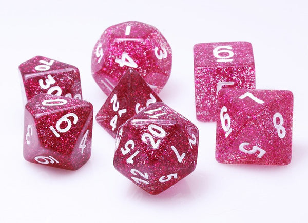 Glitter Dice Purple