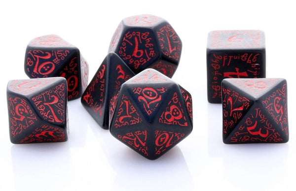 Elven Dice Black Red
