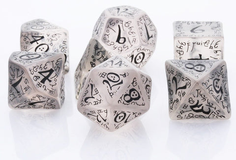 Elven Dice Black Translucent