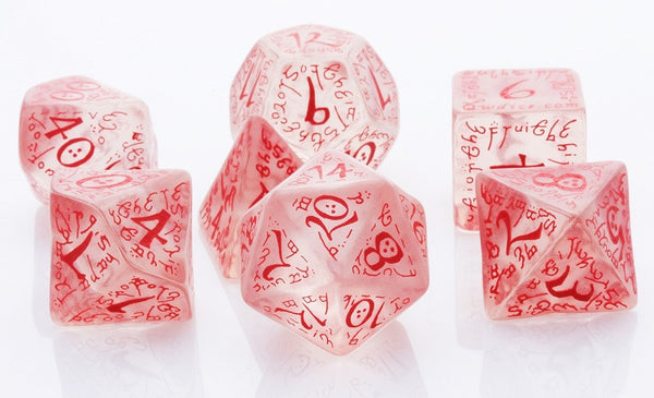 Elven Dice Red Translucent