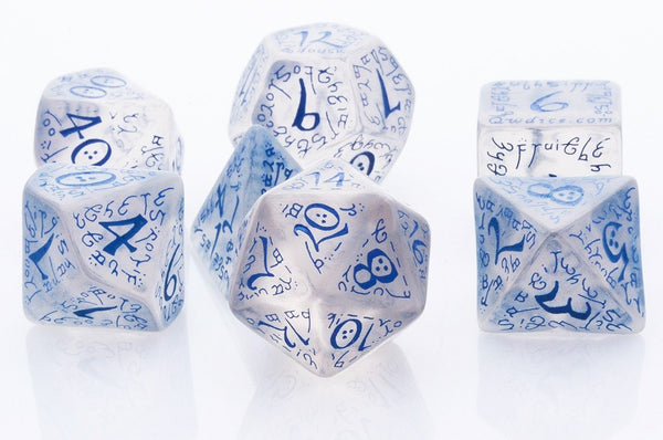 Elven Dice Blue Translucent
